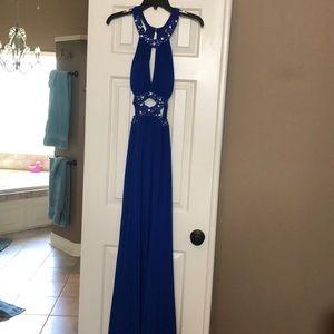 Gorgeous cobalt blue gown w sparkles